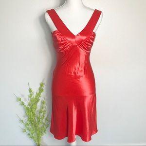 Zum Zum red silky cocktail dress